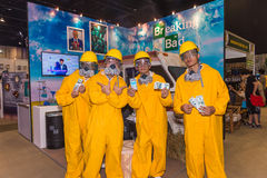 Group of cosplayer at Breaking Bad photobooth Stock Photo
