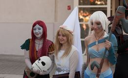 Group of cosplayers poses at Animefest