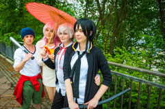 Group of cosplayers posing at Yorkshire Cosplay Convention Royalty Free Stock Photography