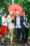 Group of cosplayers posing at Yorkshire Cosplay Convention Royalty Free Stock Photo