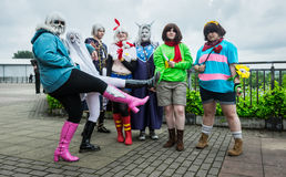 Group of cosplayers at the Yorkshire Cosplay Convention Royalty Free Stock Photos
