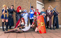 Group of cosplayers at Yorkshire Cosplay Convention Stock Photography