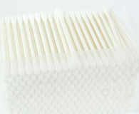 Group of cotton buds on white Stock Images