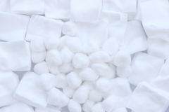 Group of cotton wool Royalty Free Stock Images