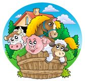 Group of country animals stock illustration