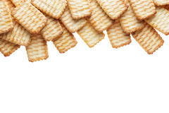 Group of cracker isolated on white , clipping path. Royalty Free Stock Photos