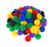Group of craft pompoms Royalty Free Stock Image