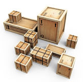Group of crates Stock Image