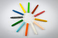 Group of crayon Royalty Free Stock Photography