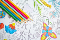 Group of crayons Stock Image