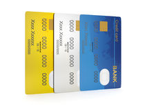 group of credit cards Royalty Free Stock Images
