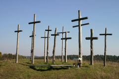 Group of crosses Royalty Free Stock Image