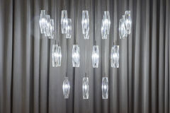 Group of crystal design lighting Royalty Free Stock Images