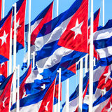 Group of cuban flags Royalty Free Stock Photography