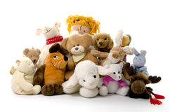 Group of cuddly toys