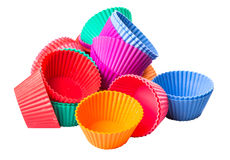 A Group Of Cupcake Silicone Baking Cups I Stock Photo