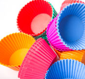 A Group Of Cupcake Silicone Baking Cups II Stock Photography