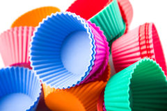 A Group Of Cupcake Silicone Baking Cups IV Stock Photo