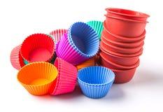 A Group Of Cupcake Silicone Baking Cups VI Stock Photos