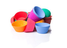 A Group Of Cupcake Silicone Baking Cups VII Stock Photos