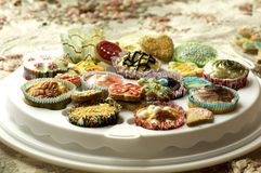 Group of cupcakes and biscuits Stock Photo