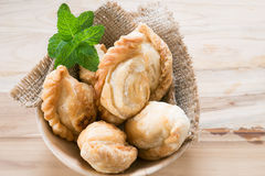 Group of curry puff. Group of curry puff with coffee Stock Image