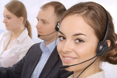Group of customer service representativ Stock Photos