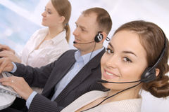 Group of customer service representativ Royalty Free Stock Photos