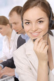 Group of customer service representativ Royalty Free Stock Image