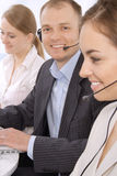 Group of customer service representative Royalty Free Stock Images