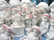 Group of cute baby angels Stock Image
