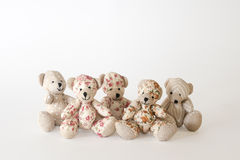 Group of cute bears. On the white background Royalty Free Stock Photography