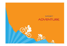 Group of cycling on the mountain,Sport backgrounds Stock Photography
