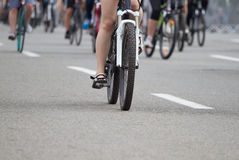 Group of a cyclist Royalty Free Stock Images