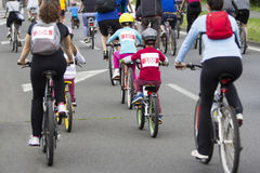 Group of cyclist Royalty Free Stock Image