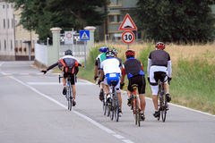 Group of cyclist Stock Images