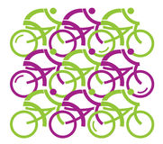Group of cyclists. Royalty Free Stock Photo