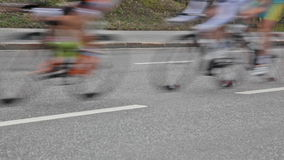 Group of cyclists stock footage