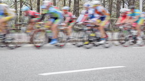 Group of cyclists stock video footage