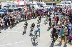 Group of Cyclists on Col du Glandon - Tour de France 2015 Stock Photos