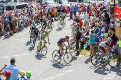 Group of Cyclists on Col du Glandon - Tour de France 2015 Stock Images