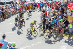 Group of Cyclists on Col du Glandon - Tour de France 2015 Stock Image