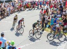 Group of Cyclists on Col du Glandon - Tour de France 2015 Stock Photo