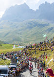 Group of Cyclists on Col du Glandon - Tour de France 2015 Royalty Free Stock Photography