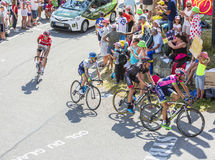 Group of Cyclists on Col du Glandon - Tour de France 2015 Stock Photo