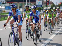 Group of cyclists a Giro d'Italia 2009 Stock Photography