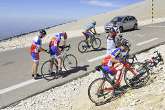 Group of cyclists Royalty Free Stock Images