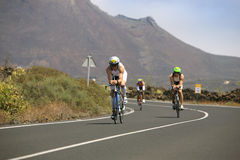 Group of cyclists in ironman Royalty Free Stock Photography