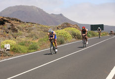 Group of cyclists in ironman Stock Image