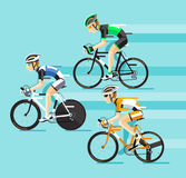 The Group of cyclists man in road bicycle racing. Stock Image